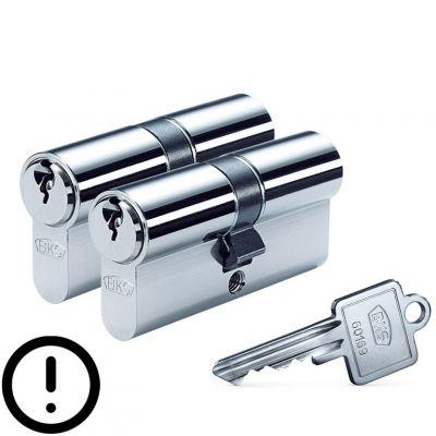 BKS Cilinderset 30/30 gelijksluitend met gevarenfunctie
